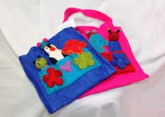 Kids Felt Handbag with Finger Puppets