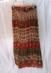 Women's Skirt - Brown & Red