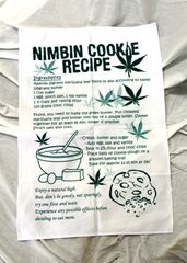 Nimbin Cookie Recipe Tea Towel - Brown