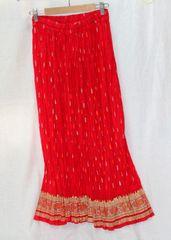 Women's Crinkle Skirt - Red