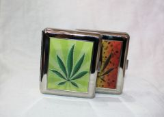 Marijuana Leaf Cigarette Case
