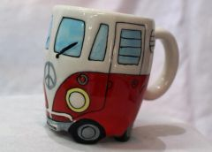 Kombi Coffee Mug - Red