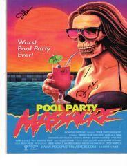 Pool Party Massacre Autograph Print