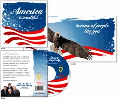 Miracle Gift Card - Stars and Stripes - The Osmond Brothers