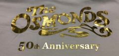 White Osmond 50th Anniv t-shirt (4X-5X only)