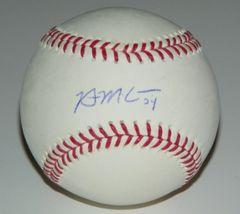 Brian McCann Signed Autographed Auto OML #34 Baseball