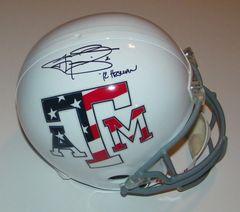Johnny Manziel Signed Autographed Auto Texas A&M Aggies Stars & Stripes Full Size Helmet w/12 Heisman - Fanatics