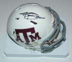 Johnny Manziel Signed Autographed Auto Texas A&M Aggies White Speed Mini Helmet w/12 Heisman - Fanatics