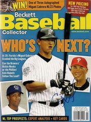 Cole Hamels Signed Autographed Auto Beckett Baseball Magazine