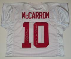 A. J. McCarron Signed Autographed Auto Alabama Crimson Tide Jersey w/2011 & 12 Nat'l Champs - Proof