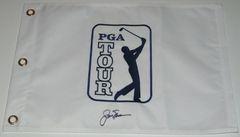 Jack Nicklaus Signed Autographed Auto PGA Tour Pin Flag