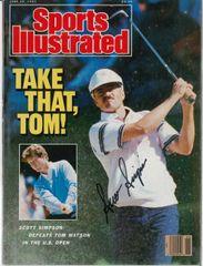 Scott Simpson Signed Autographed Auto SI Sports Illustrated - U.S. Open Championship - NO LABEL