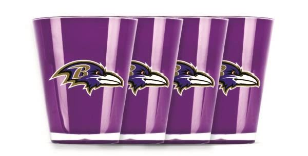Baltimore Ravens Shot Glasses 4 Pack Shatterproof NFL