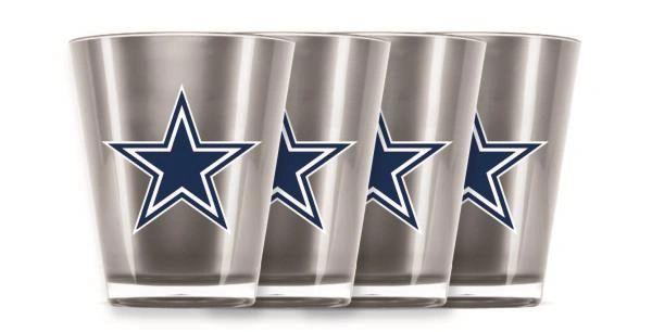 Dallas Cowboys Shot Glasses 4 Pack Shatterproof NFL