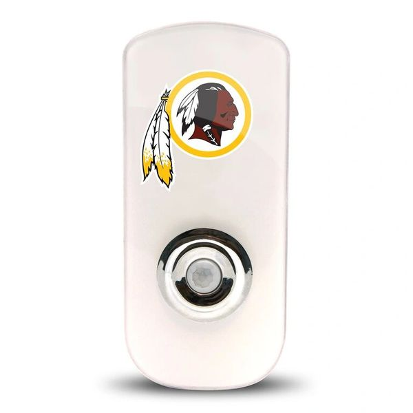 Washington Redskins Night Light LED Flash Lightw/ Built In Sensor NFL