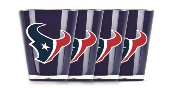 Houston Texans Shot Glasses 4 Pack Shatterproof NFL