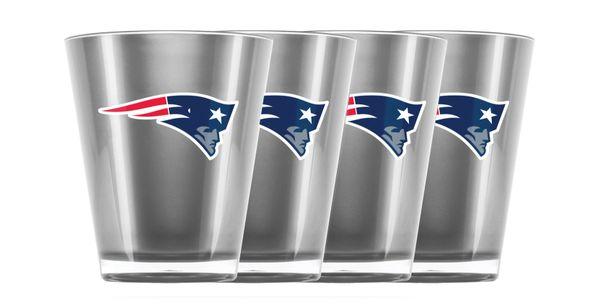 New England Patriots Shot Glasses 4 Pack Shatterproof NFL