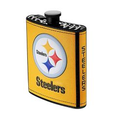 Pittsburgh Steelers NFL Plastic Hip Flask w/ Team Colors and Logo