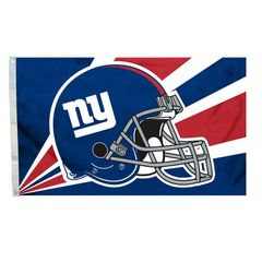 New York Giants Team Helmet Banner Flag 3'x5' NFL Licensed