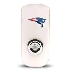 New England Patriots Night Light LED Flash Lightw/ Built In Sensor NFL