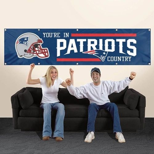 New England Patriots 2' x 8' Wall Banner Flag NFL Licensed