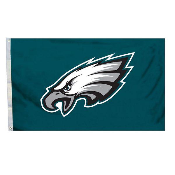 Philadelphia Eagles Team Logo Banner Flag 3'x5' NFL Licensed