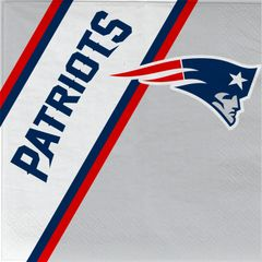 New England Patriots Disposable Paper Napkins 20 Count Partyware
