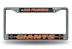 San Francisco Giants Chrome Bling License Plate Frame MLB Licensed