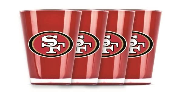 San Francisco 49ers Shot Glasses 4 Pack Shatterproof NFL