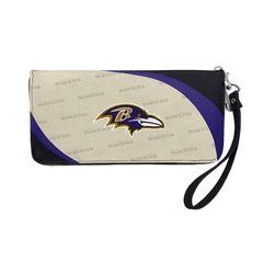 Baltimore Ravens Team Logo Women's Zip Organizer Wristlet Wallet NFL