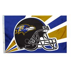 Baltimore Ravens Team Helmet Banner Flag 3'x5' NFL Licensed