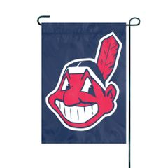 "Cleveland Indians Garden Flag Embroidered 12"" x 18"" MLB Licensed"
