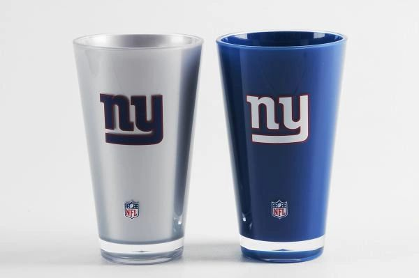 New York Giants Insulated Tumbler Cup 2 Pack On Field Colors NFL Licensed