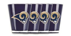 Los Angeles Rams Shot Glasses 4 Pack Shatterproof NFL