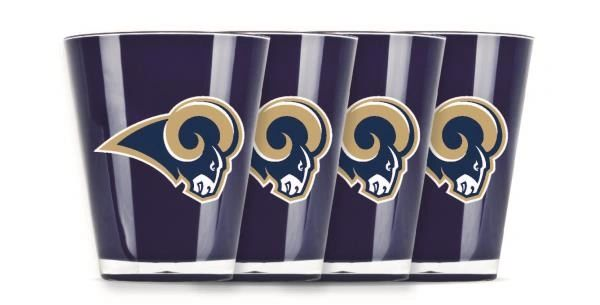 Los Angeles Rams Shot Glasses 4 Pack Shatterproof NFL