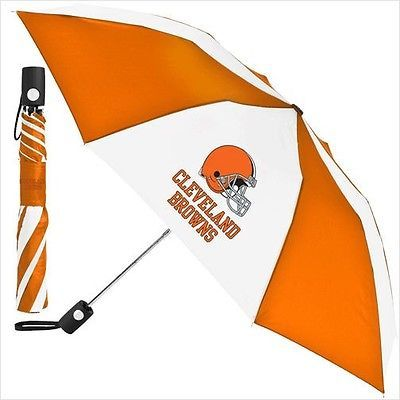 """Cleveland Browns Automatic Umbrella 42"""" Foldable NFL Licensed"""