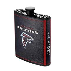 Atlanta Falcons NFL Plastic Hip Flask w/ Team Colors and Logo