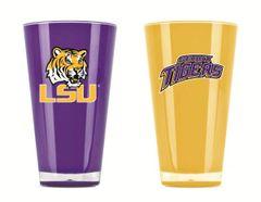 LSU Tigers Tumblers Home/Away Twin Pack NCAA Licensed