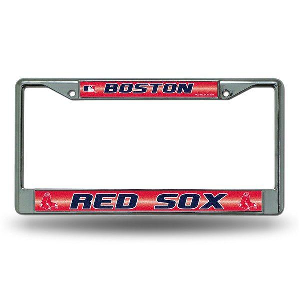 Boston Red Sox Chrome Bling License Plate Frame MLB Licensed