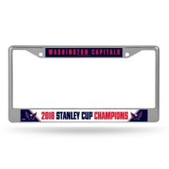 Washington Nationals Stanley Cup Champions Chrome License Plate Frame NHL