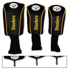 Pittsburgh Steelers Golf Club Covers 3 pack NFL Licensed