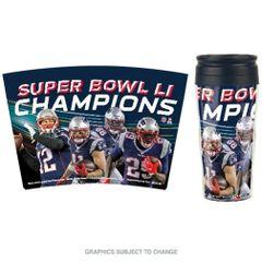 New England Patriots Super Bowl LI Champions Travel Coffee Mug Cup NFL Licensed