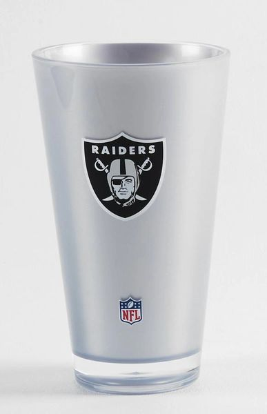 Oakland Raiders Tumbler 20oz Round Cup Insulated/Shatterproof NFL