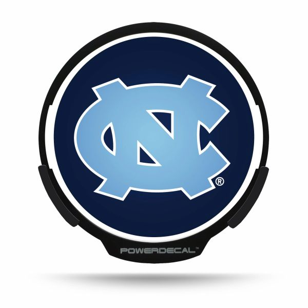 UNC Tar Heels LED Window Decal Light Up Logo Powerdecal NCAA