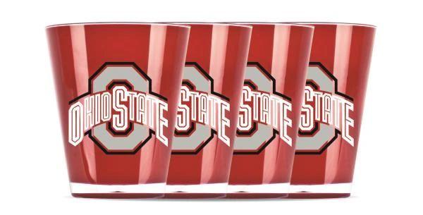 Ohio State Buckeyes Shot Glasses Shatterproof 4 Pack NCAA Licensed