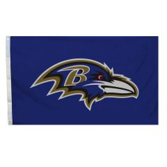 Baltimore Ravens Team Logo Banner Flag 3'x5' NFL Licensed