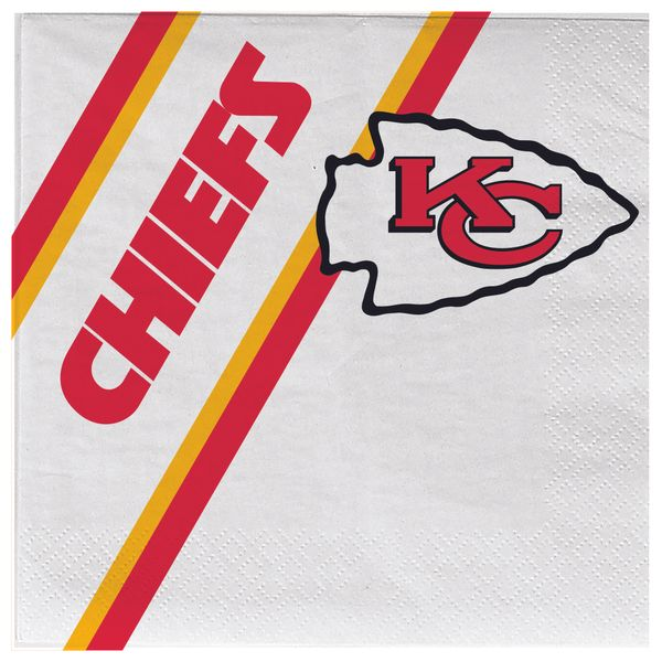 Kansas City Chiefs Disposable Paper Napkins 20 Count Partyware