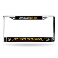 "Pittsburgh Penguins ""2017 Stanley Cup Champions"" Chrome License Plate Frame NHL"