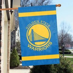 Golden State Warriors 2 Sided Embroidered Vertical House - Wall Flag
