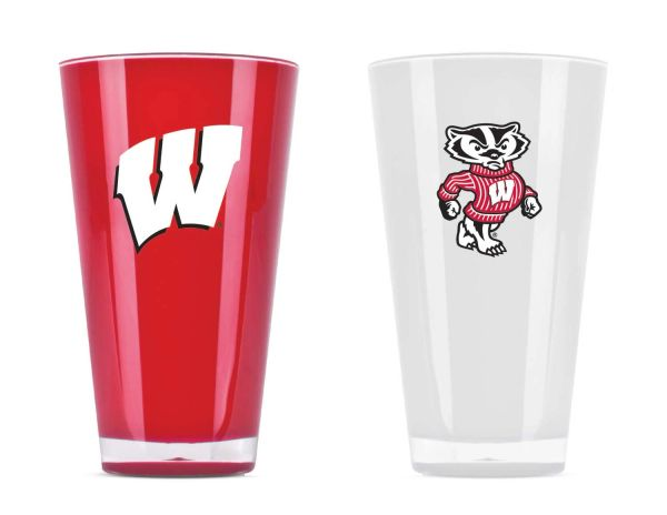 Wisconsin Badgers Insulated Tumbler Cup Home/Away Twin Pack NCAA